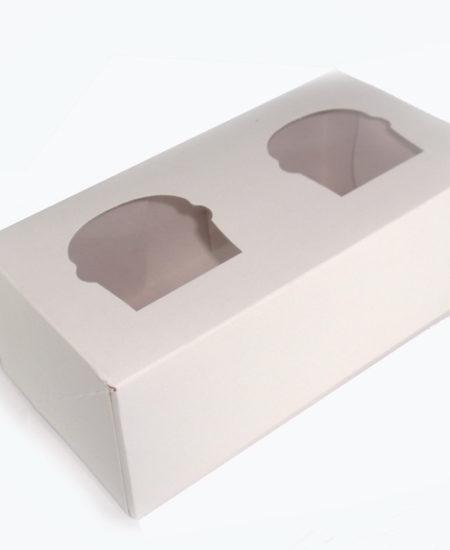 Caja Blanca para 2 cupcake Pack 10 uds-0
