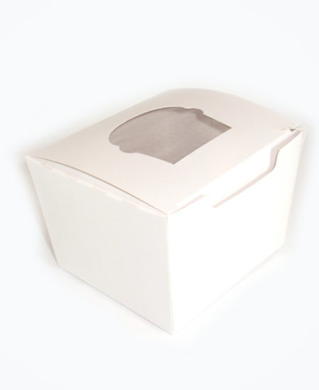 Caja Blanca para 1 cupcake Pack 10 Uds-0