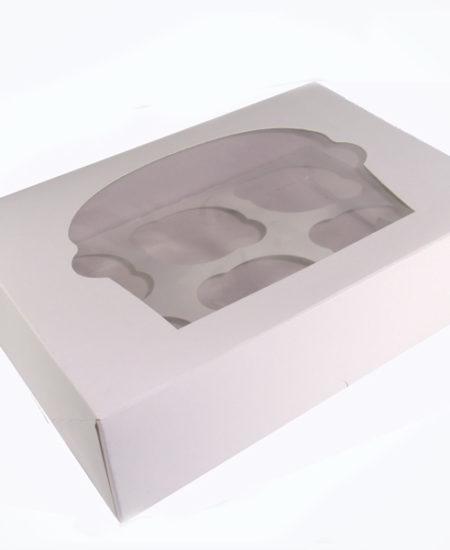 Caja Blanca para 6 cupcake Pack 10 Uds-0