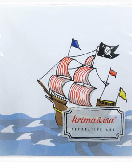 Servilletas Fiesta Pirata · Pack 20 Uds-0