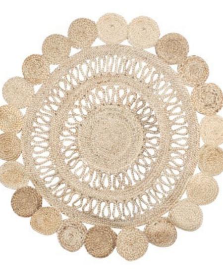 alfombra redonda circulos